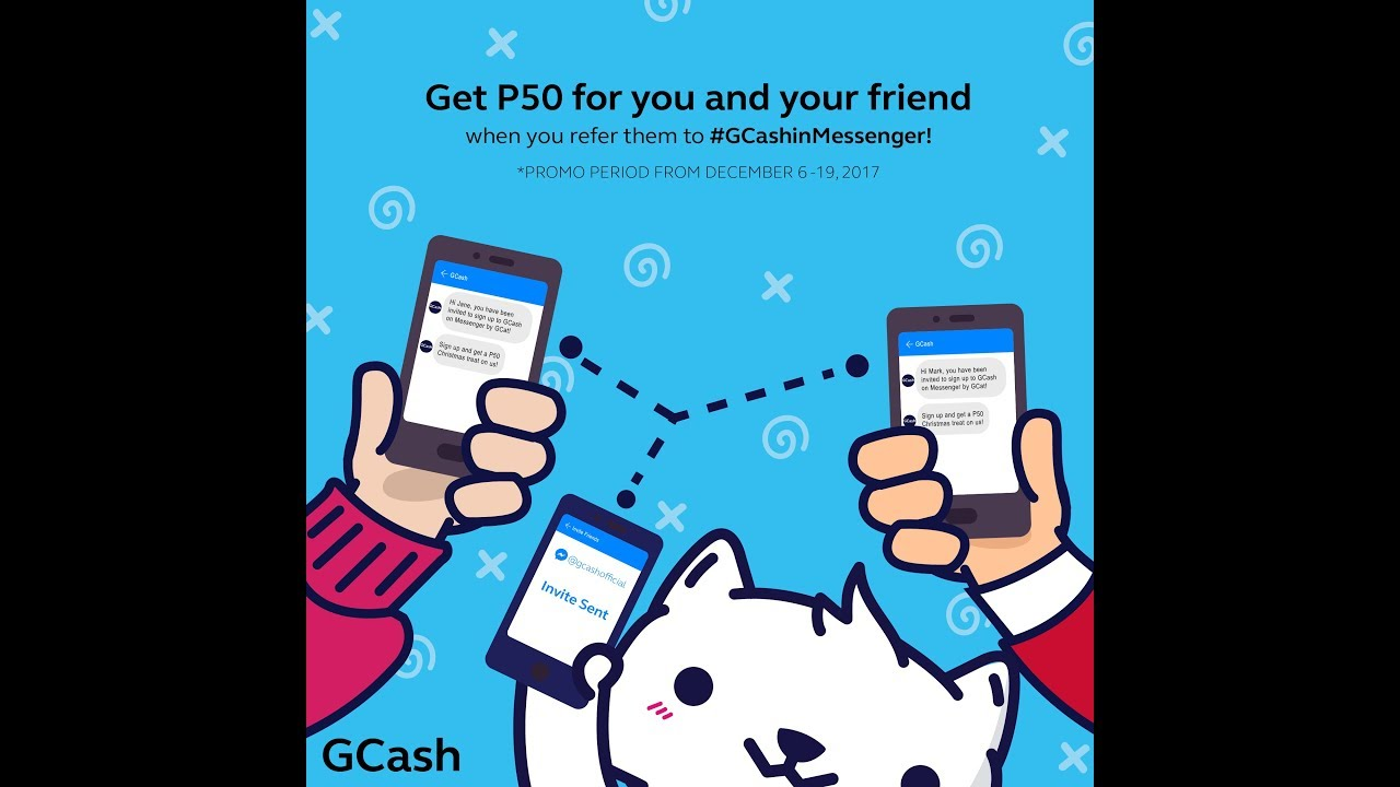 Get 50 Pesos Free Load to Globe and TM Using Gcash Referral Program and  Messenger