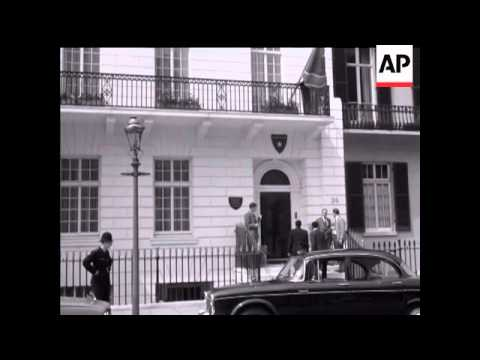 ADOULA AT CONGOLESE EMBASSY and ADMIRALTY HOUSE - NO SOUND