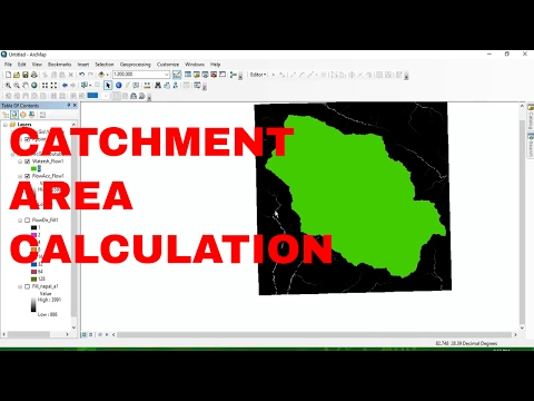 Catchment area Calculation using arcgis 10.4 : watershed delineation