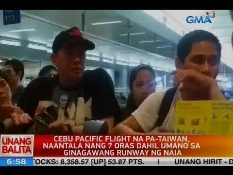 UB: Cebu Pacific flight na pa-Taiwan, naantala nang 7 oras dahil umano sa ginagawang runway ng NAIA