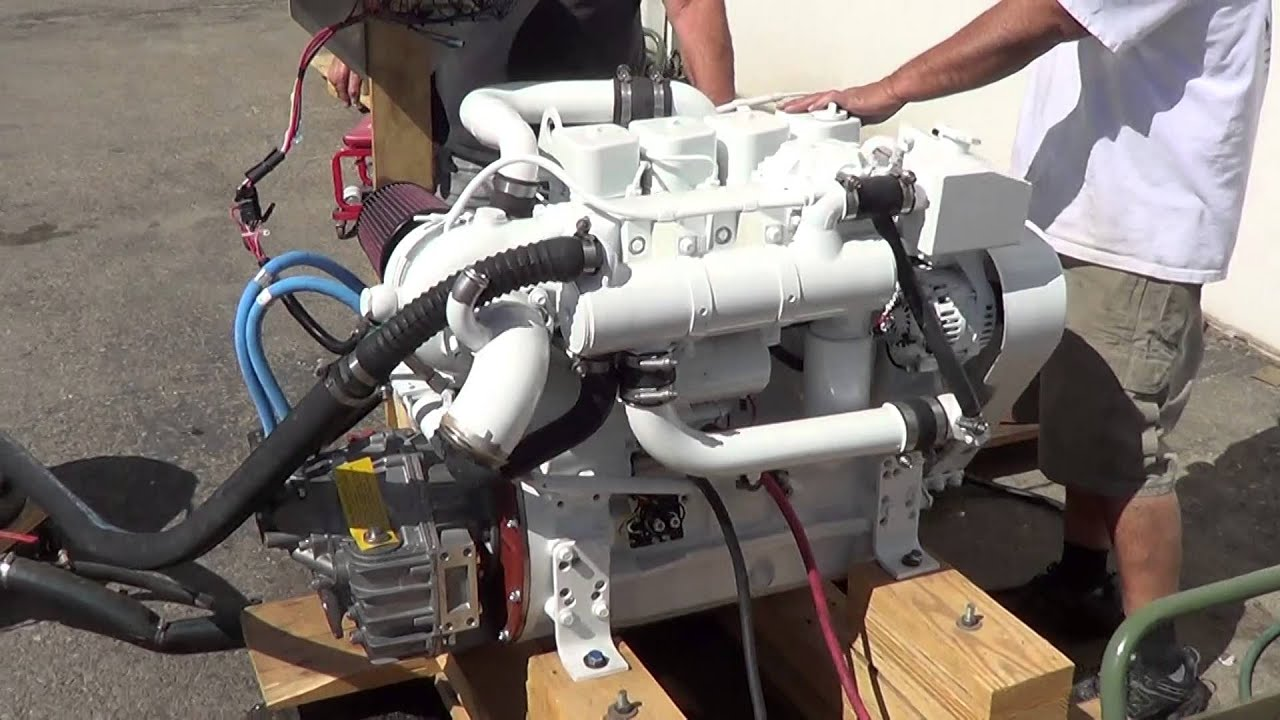 Cummins Marine 4BT 150 Engine Test #1
