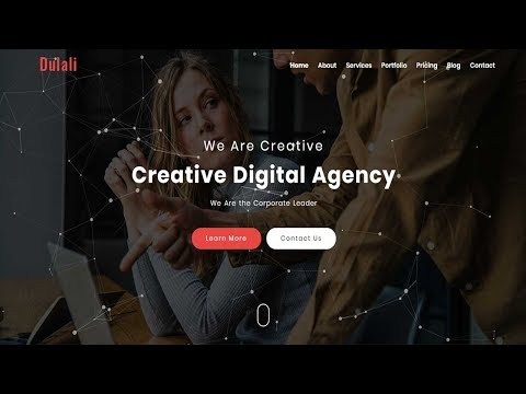 DULALI - One Page Multipurpose Template | Responsive Bootstrap Template