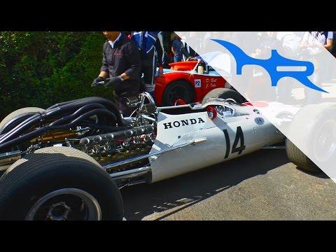 1967 Honda RA300 formula 1 car at Goodwood Festival of Speed (Insane V12 Sound)