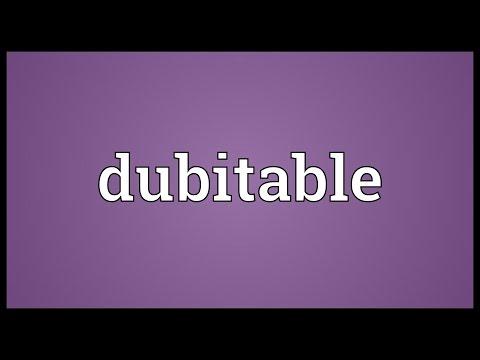 Header of dubitable