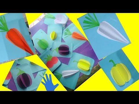 Decor idea//School decor idea//3d paper vegetables idea//DIY