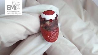 Мастер-класс красный маникюр! Слайдер + фактурные розы