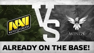 WATCH FIRST: Already on the base! - Na`VI vs Wings @ The International 6