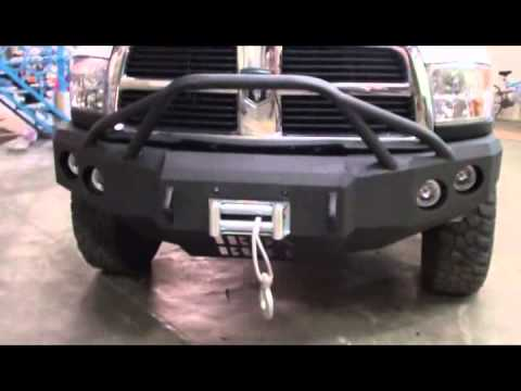 Dodge Ram 3500 Dually >> Iron Bull Bumpers Install on Front 2012 Dodge Power Wagon - YouTube