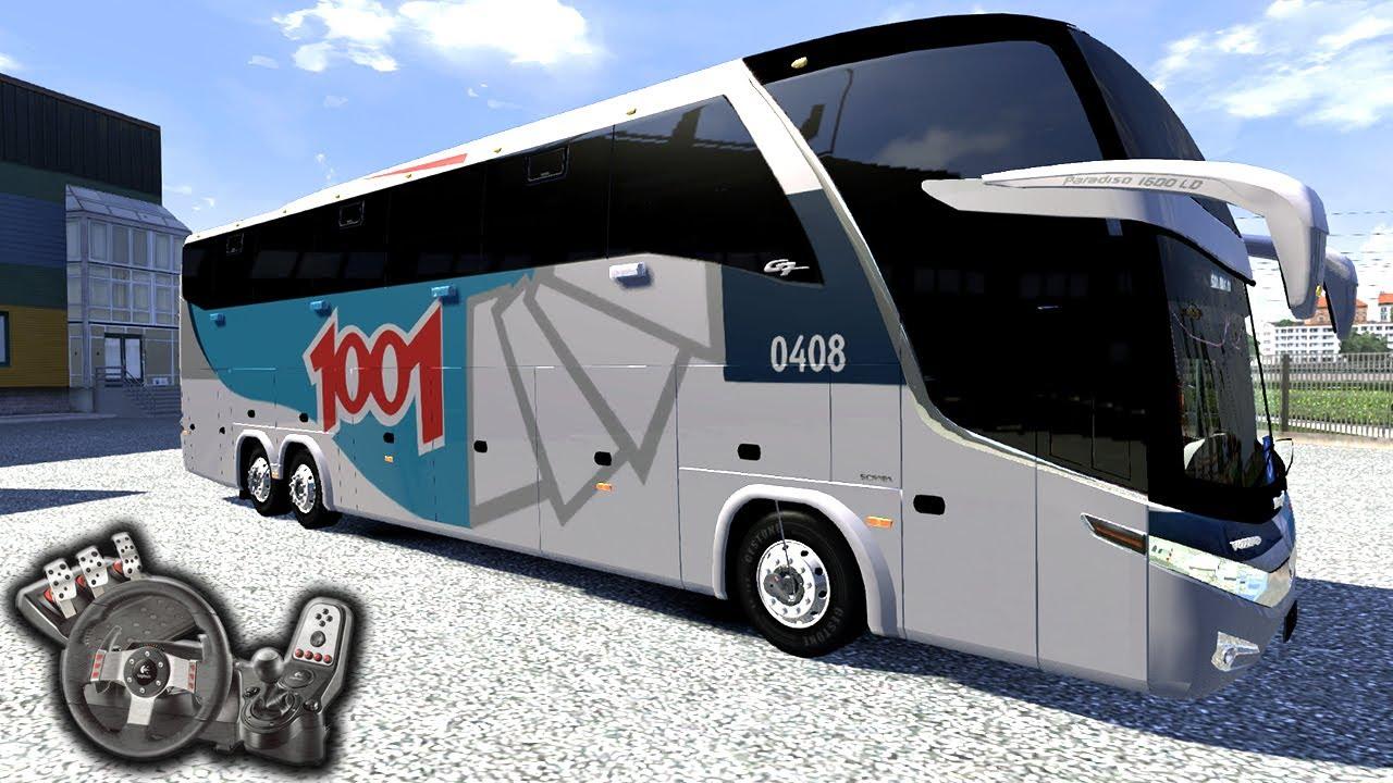 Euro Truck Simulator 2 - Viagem de boa  - Auto Viação 1001 - Paradiso G7 - Com Logitech G27