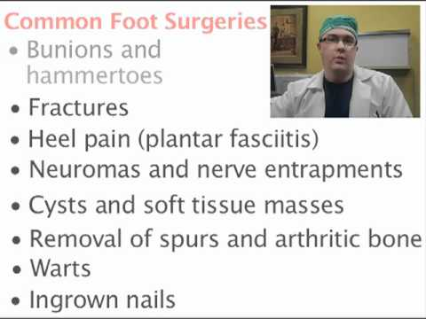 What are common foot surgeries?-Minnesota Podiatrist Explains  www.innovativefootcare.com