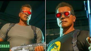 Mortal Kombat 11 - Terminator Vs Terminator (Mirror Match) - All Intros Dialogues