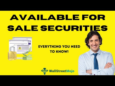 Available for Sale Securities (Definition) | Journal Entries | Example