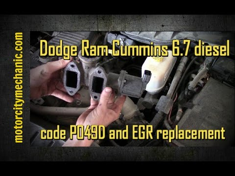 Dodge Cummins 6 7 diesel code P049D and EGR replacement