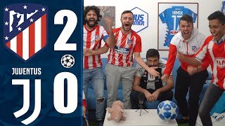 SENZA PALLE!!! ATLETICO MADRID 2-0 JUVENTUS | REACTION LIVE  w/Fius Gamer, Ohm