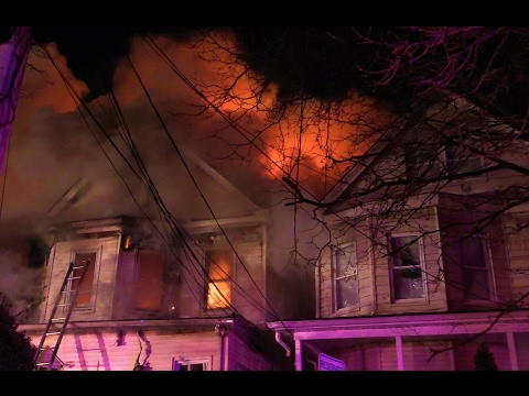 Passaic NJ Fire Department 4th Alarm Fire 165 Harrison St Feb 1st 2017