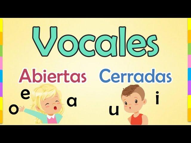 Vocales Abiertas Y Cerradas Educación Primaria Youtube