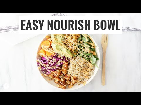 Plant-Powered Nourish Bowl With Carrot Puffs | Quick, Easy, Healthy | Healthy Grocery Girl