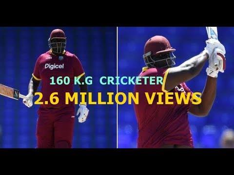 160 kgs and 6'8 tall Rahkeem Cornwall blasting English bowlers