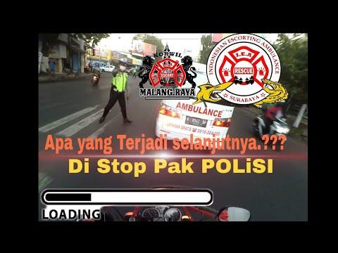 IEA Korwil Surabaya di Jalur Malang #4 [Escort Ambulance  Diberhentikan Pak Polisi] selalu hati hati