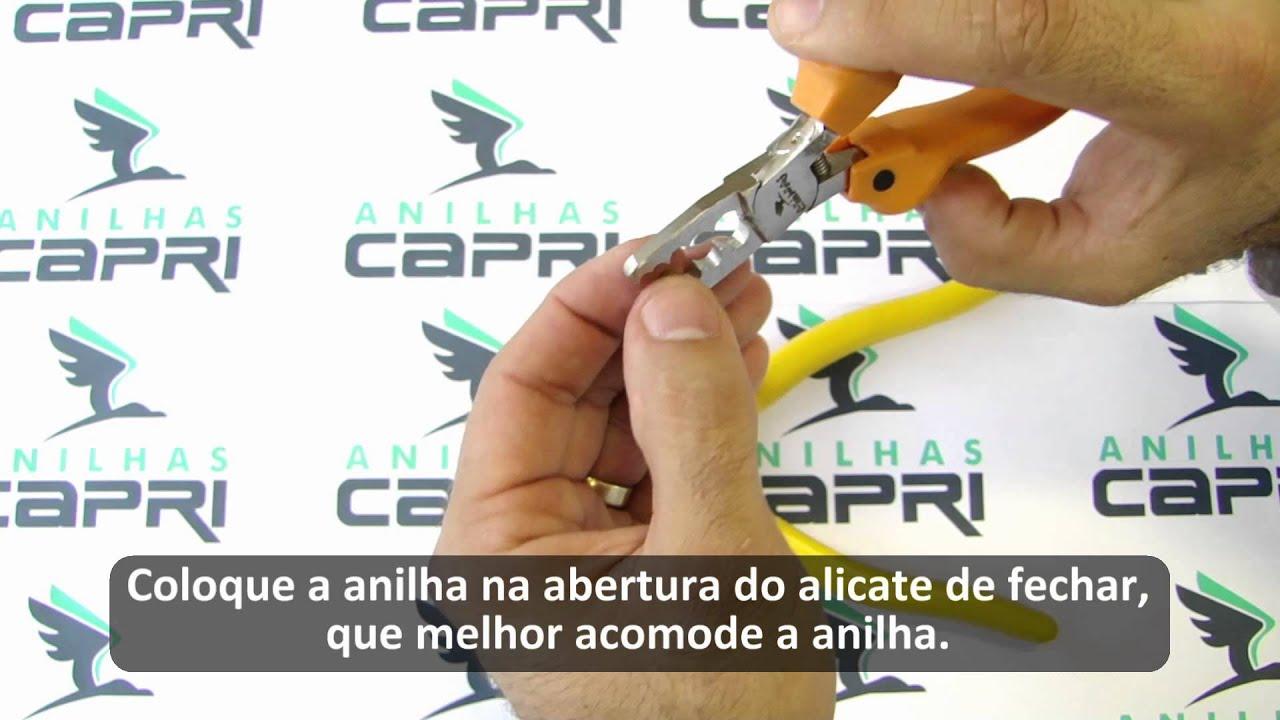 Como colocar anilha aberta anilhas capri youtube - Como colocar adoquines de hormigon ...
