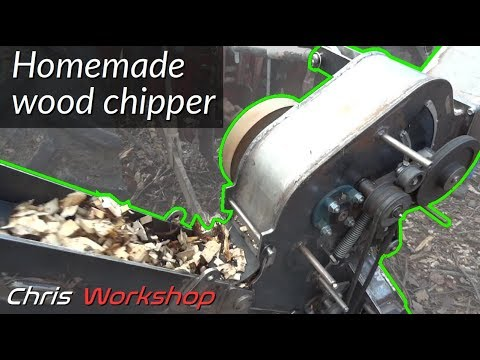 Homemade chipper for firewood chipps