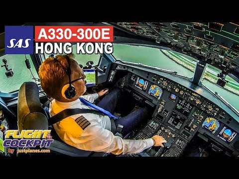 Piloting the SAS Airbus A330E to HONG KONG