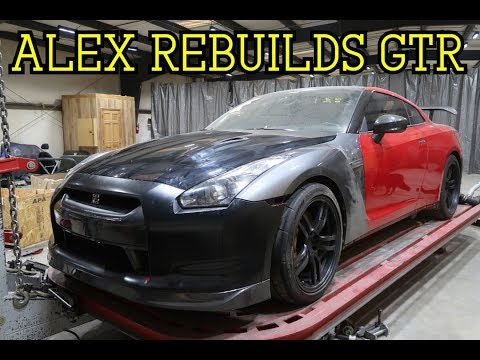 Pulling Frame on ALEX REBUILDS NISSAN GTR
