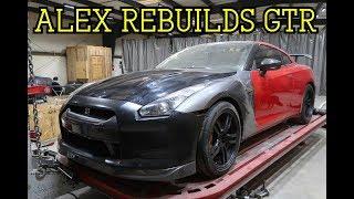 Pulling Frame on ALEX REBUILDS NISSAN GTR