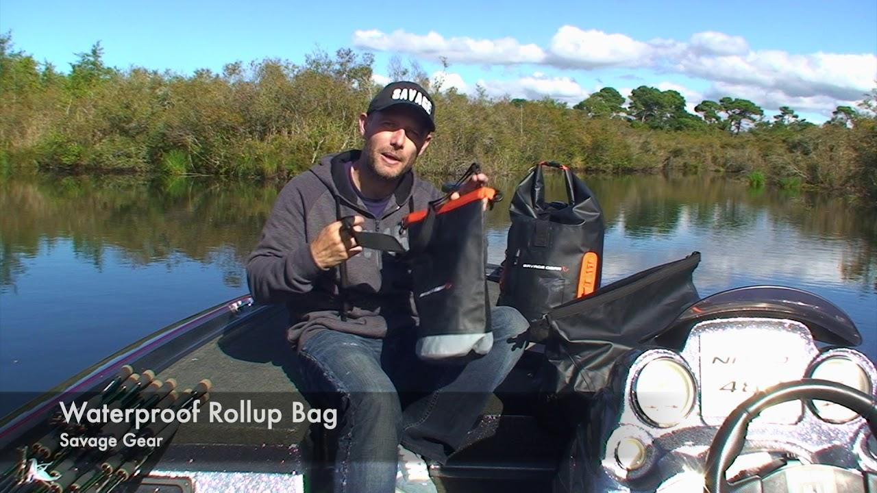 Savage Gear Waterproof Rollup Sac à dos 40 L étanche Sac PVC 500d tarpulin
