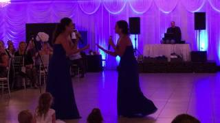 Best Surprise Wedding Speech / Song by Sisters of the Groom