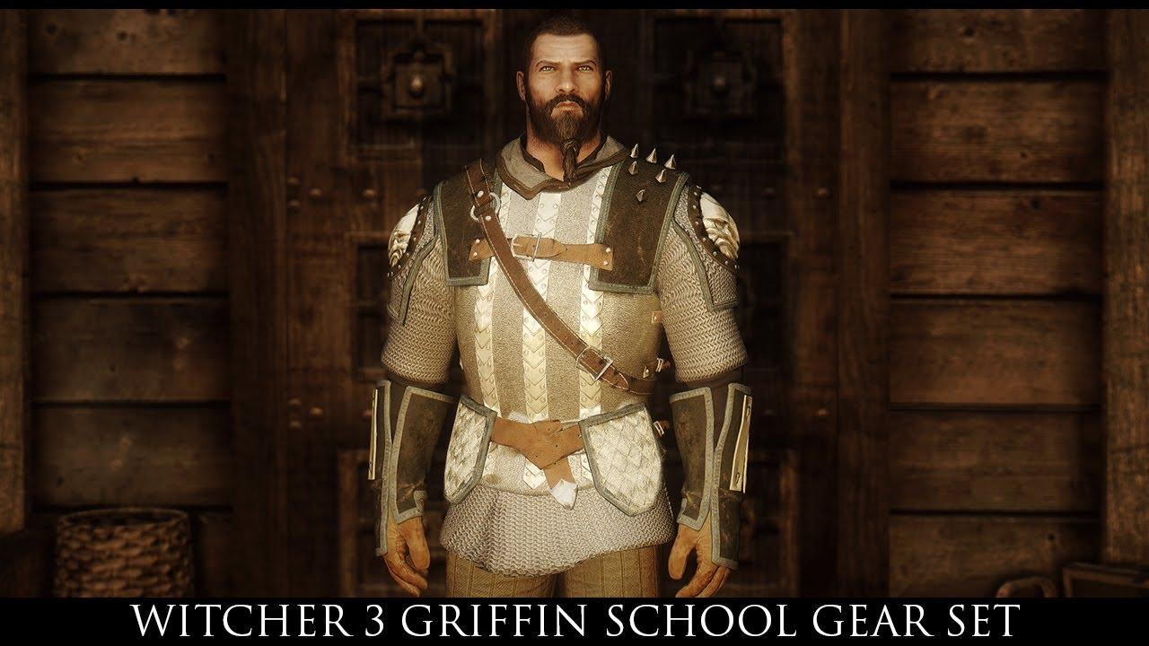 TES V - Skyrim Mods: Witcher 3 Griffin School Gear Set