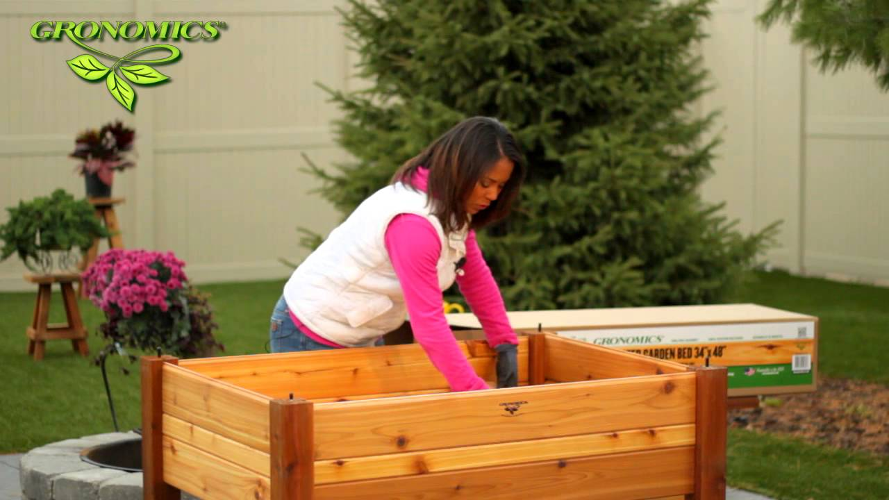 GRONOMICS Elevated Garden Beds Assembly YouTube