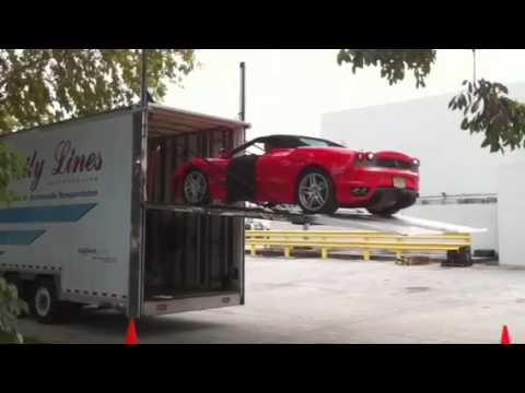 Enclosed Exotic Auto Transport Ferrari Unload Youtube