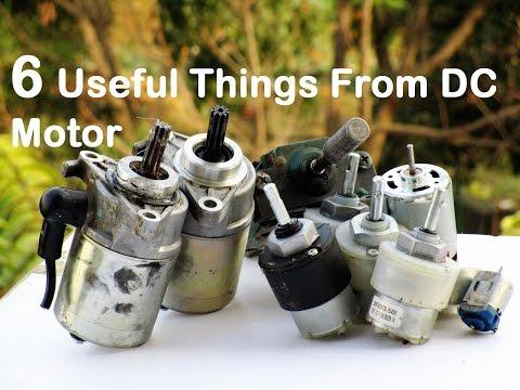 6 useful things from DC motor - Bike Self start Motor