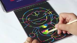 Dạy bé tập vẽ chú mèo doremon đáng yêu trên sổ ma thuật - Cô Nga xinh tươi