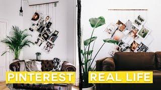 Diying Viral Pinterest Photos • Graphic Wall Art Hanging Diy // Lone Fox