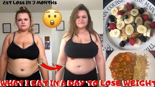 WHAT I EAT IN A DAY TO LOSE WEIGHT!