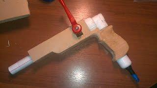 Как сделать пневматический пистолет!!
