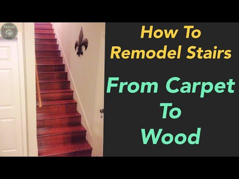 How To Replace Carpet Stairs with Wood Flooring // Easy & Affordable Technique