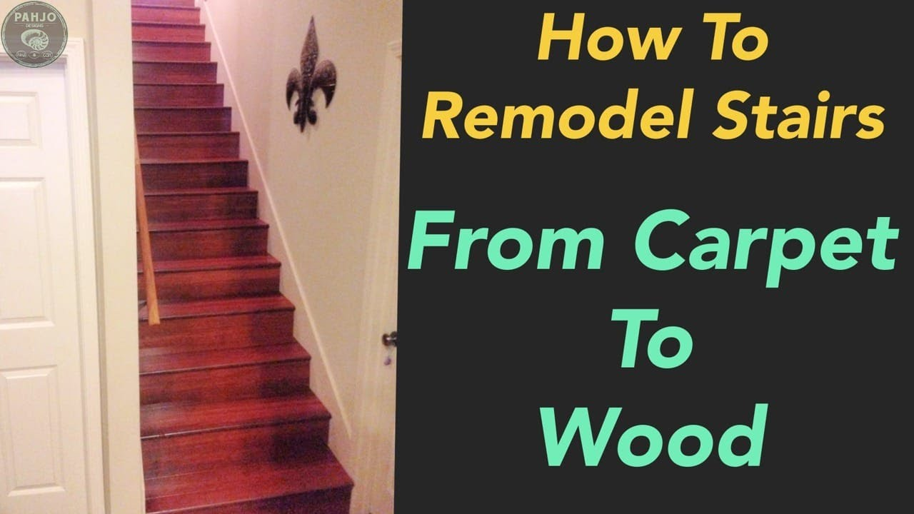 How To Remodel Carpet Stairs To Hardwood   Match Existing Hardwood Floors