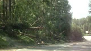 Ураган Лен.область.Последствия п.Сосново июль 2010(, 2010-07-30T17:03:45.000Z)