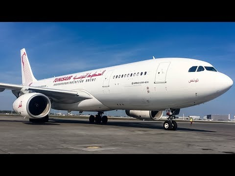 Tunisair A330-200 (A332) Ramp Action in Montreal (YUL/CYUL)