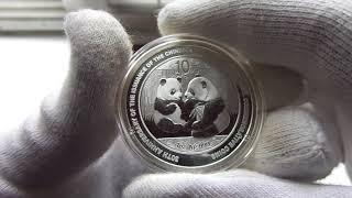 Серебряная монета Китайская панда 2009.