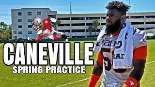 Miami hurricanes spring practice interviews - 19 apr