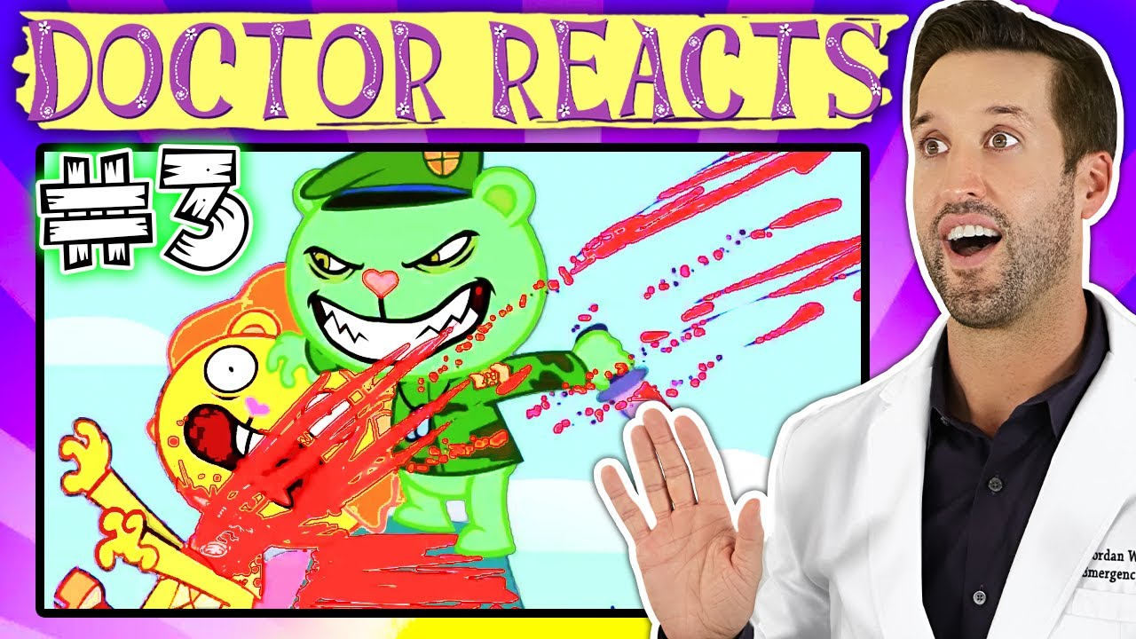 ER Doctor REACTS to Happy Tree Friends Medical Scenes #3