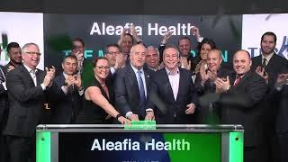 Aleafia Health opens TSX Venture Exchange, April 10, 2018