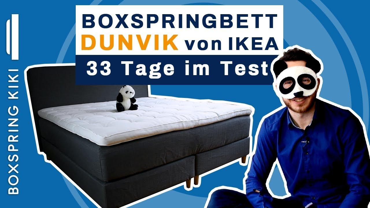 Boxspringbett Dunvik Test Von Ikea Mit Fazit Nach 33 Nachten Youtube