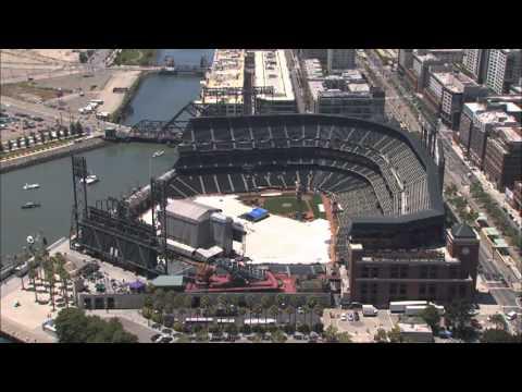 AT&T Park Stadium Aerial View San Francisco Giants MLB Major League Baseball SF Giants World Series