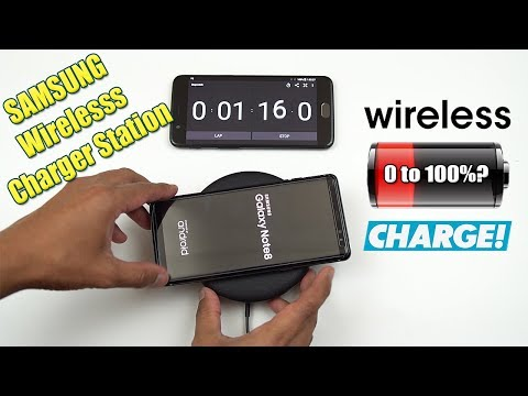 Note 8 Battery Wireless Fast Charge Test 0 to 100% (Samsung Wireless Dock) [4K]