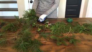 How to Make Evergreen Garland